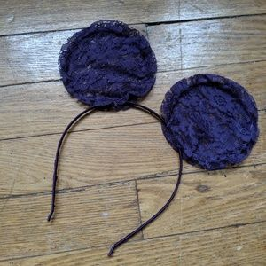New Purple Black Lace Mouse Ears